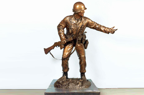 Private Joe P. Martínez Bronze Sculpture